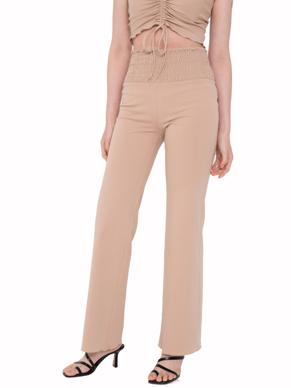 Ruched Summer Pants TAN